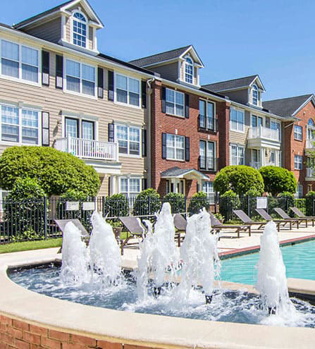 The Myrtles at Olde Towne-fountain
